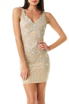 Amanda Uprichard Gold Cocktail Dress - Alternate List Image