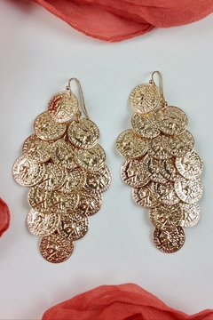 GHome2 Gold Coin Earrings - Alternate List Image