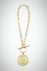 Embellish Gold Coin Necklace - Product Mini Image