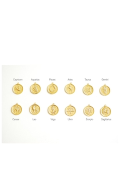 Simply Chic Gold-Coin Zodiac Necklace - Alternate List Image
