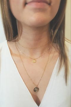 Simply Chic Gold-Coin Zodiac Necklace - Product List Image