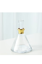 The Birds Nest GOLD CONE DECANTER - Front cropped