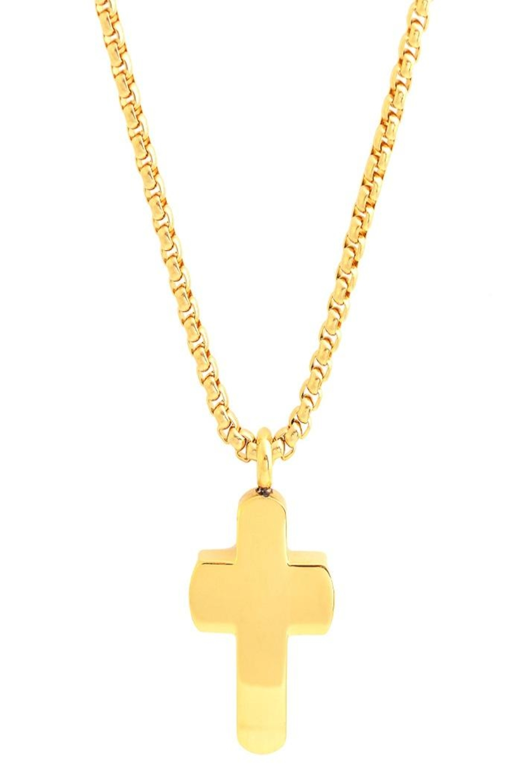 Made It! Gold Cross Necklace - Main Image