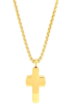 Made It! Gold Cross Necklace - Alternate List Image
