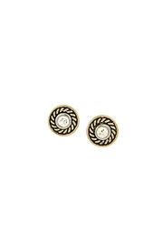 Wild Lilies Jewelry  Gold Crystal Studs - Product Mini Image
