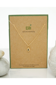 Cool and Interesting Gold Dainty Disc Initial Necklace - Alternate List Image