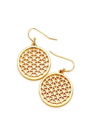 Wild Lilies Jewelry  Gold Disc Earrings - Product Mini Image