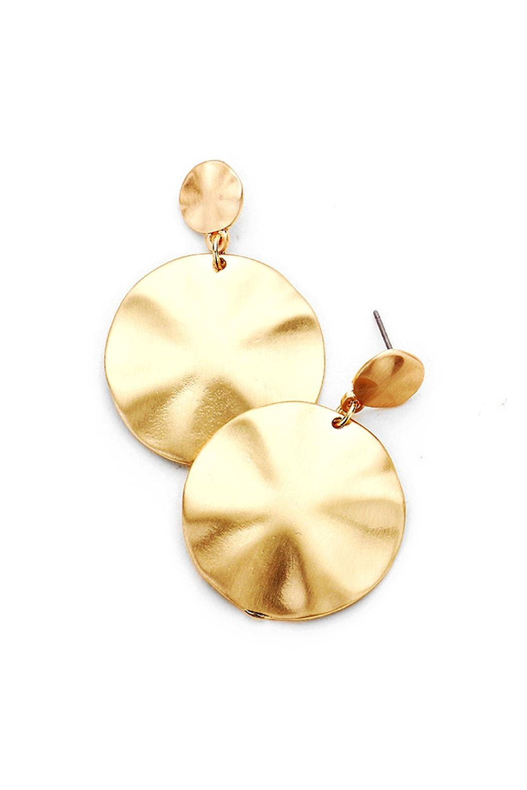 Wild Lilies Jewelry  Gold Disc Earrings - Main Image