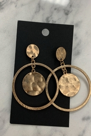 0-105 Gold Disc Earrings - Product Mini Image