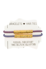 The Birds Nest GOLD DISC HAIR TIES/BRACELETS (SET 2) - Front cropped