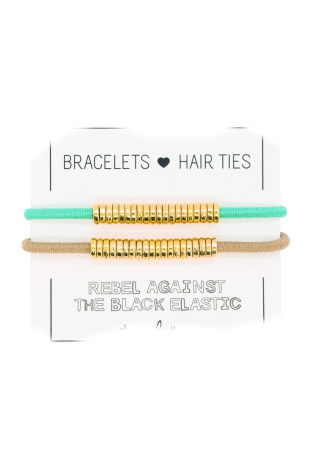 The Birds Nest GOLD DISC HAIR TIES/BRACELETS (SET 2) - Front Cropped Image