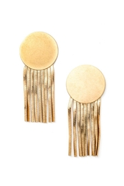 Minx Gold Discfringe Earring - Product Mini Image
