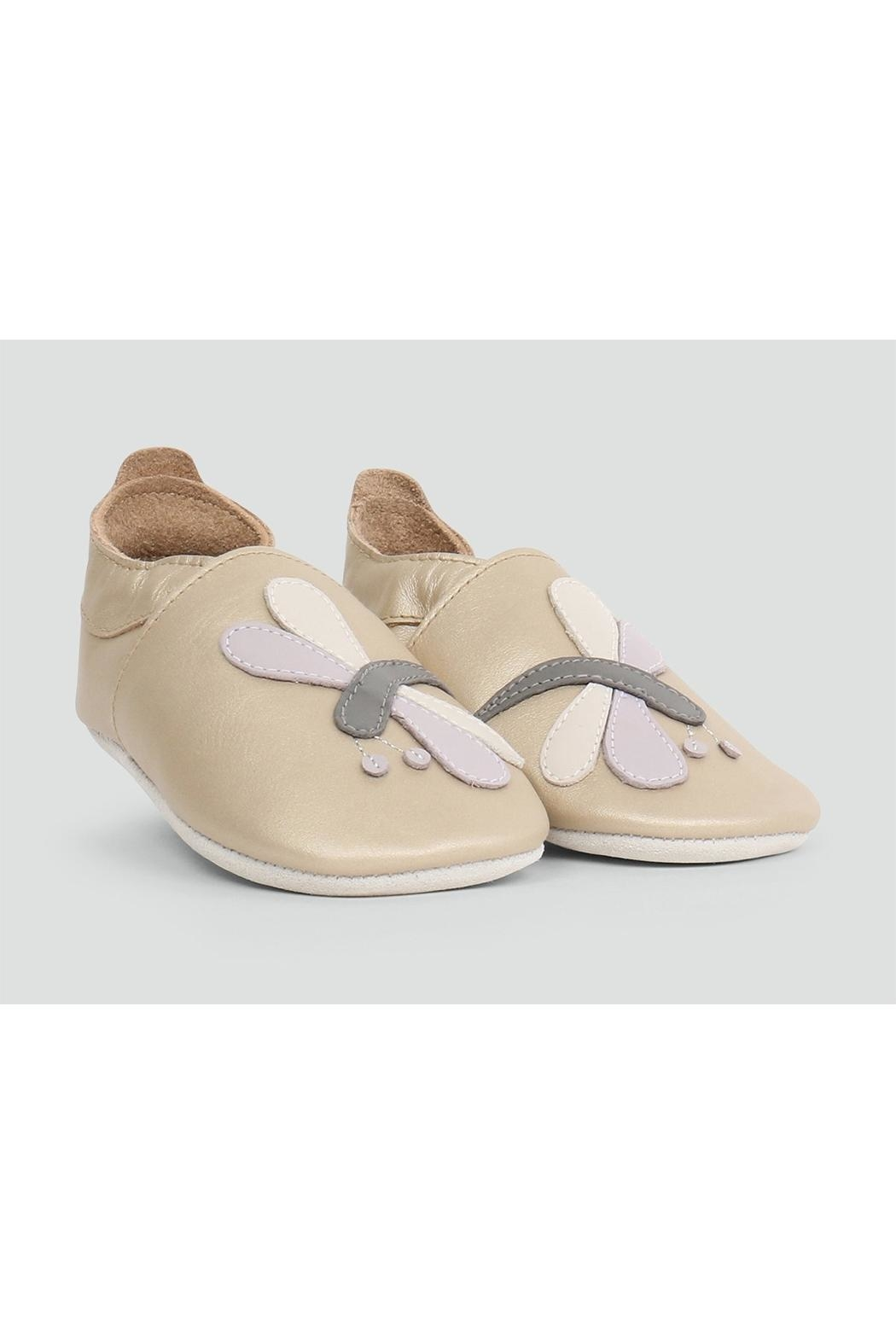 Bobux Gold-Dragonfly Soft-Sole Slippers - Main Image