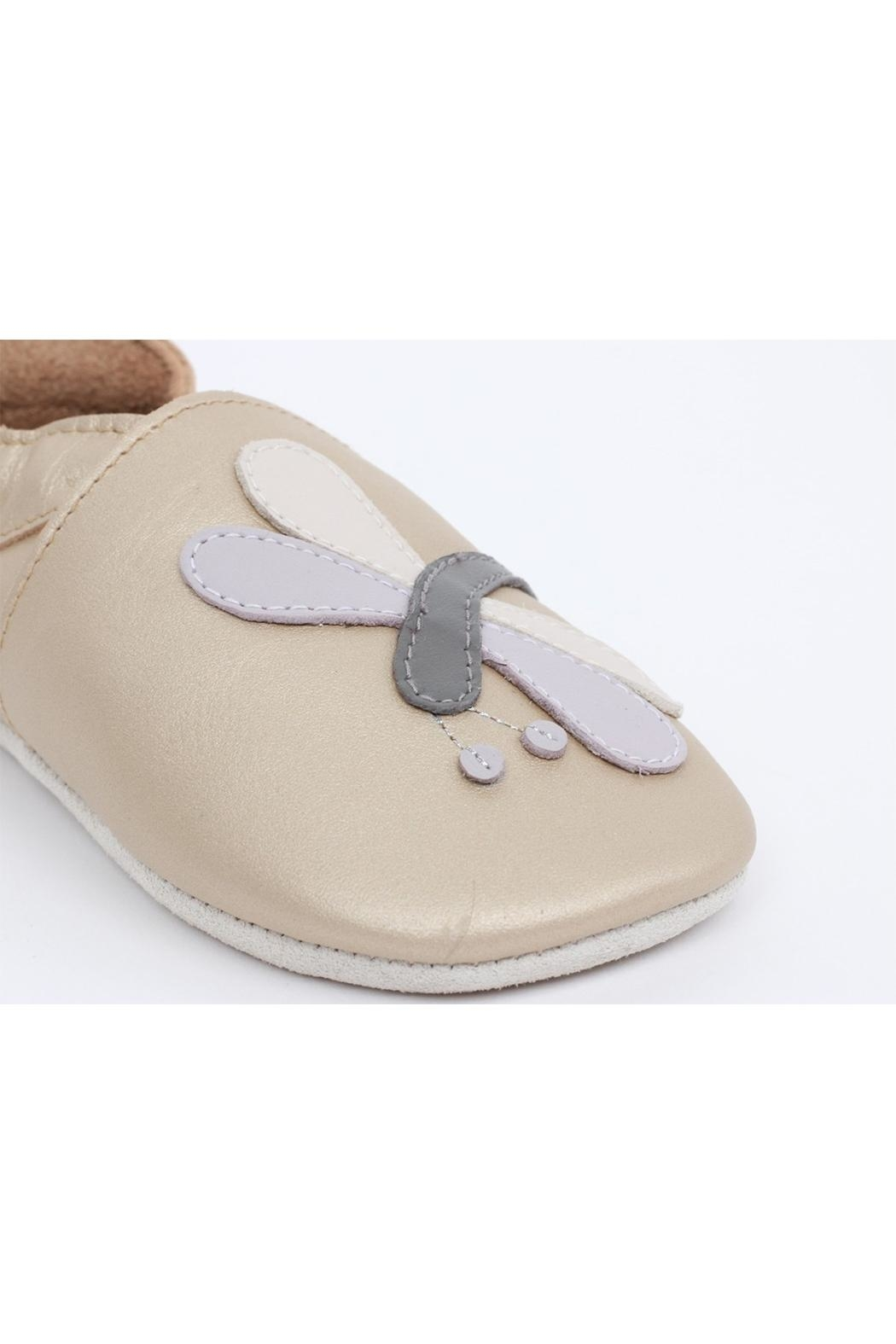 Bobux Gold-Dragonfly Soft-Sole Slippers - Front Full Image