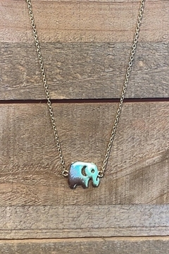 Allie & Chica Gold Elephant Necklace - Alternate List Image