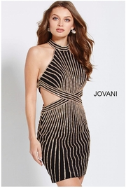 Jovani Gold Embellished Dress - Product Mini Image