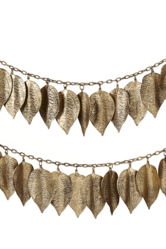 Ganz Gold embossed leaf-garland - Alternate List Image