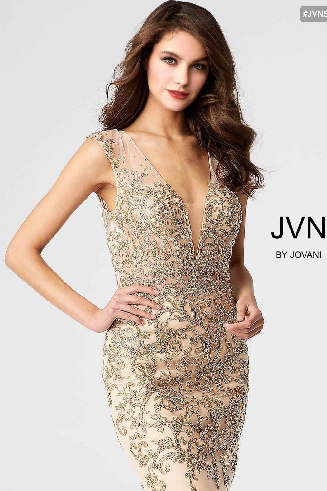 e58eab8b2d0 Jovani Gold Embroidered Dress from Guilford by A s Unique Boutique ...