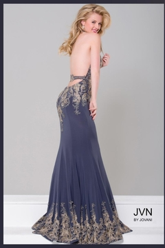 Jovani PROM Gold Embroidered Gown - Alternate List Image
