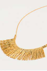 Gorjana Gold Fan Necklace - Front full body