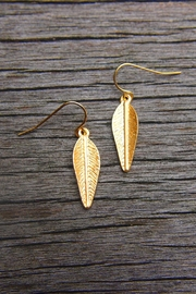 Wild Lilies Jewelry  Gold Feather Earrings - Product Mini Image