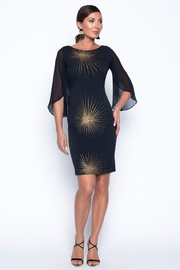 Frank Lyman Gold Fireworks Dress, Black - Product Mini Image