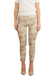 lisette L Gold Floral Pants - Product Mini Image