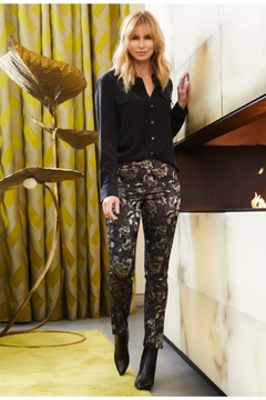 Shoptiques Product: Gold Floral Slim Pant