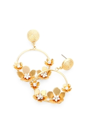 Wild Lilies Jewelry  Gold Flower Hoops - Product Mini Image