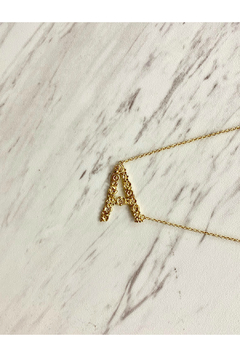 Shoptiques Product: Gold Flower Initial Necklace