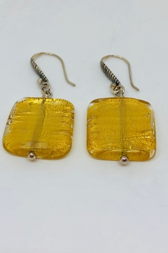 Laurent Léger Gold Foil Earrings - Alternate List Image