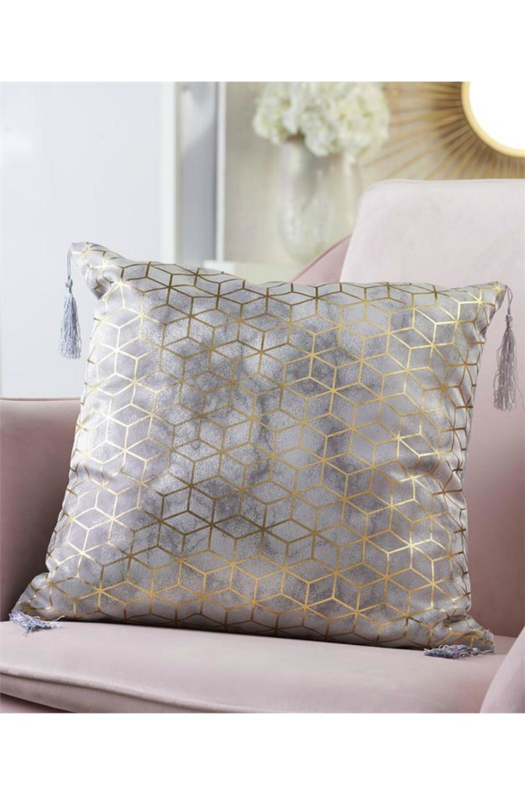Gift Craft Gold-Foil Print Pillow - Front Cropped Image