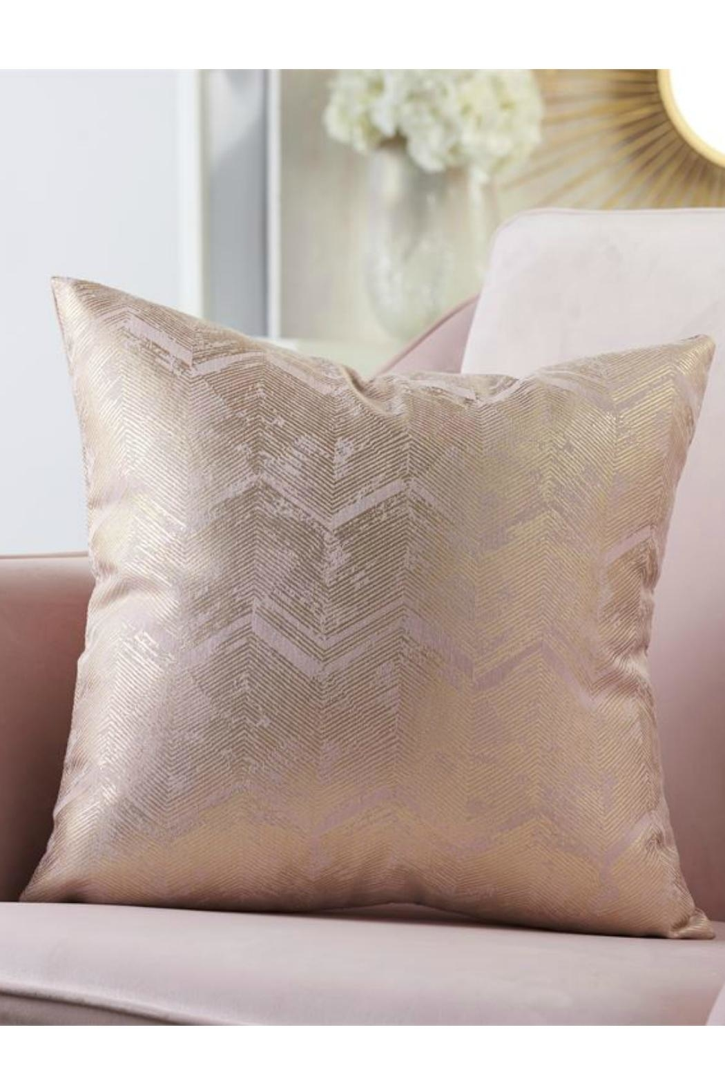 Gift Craft Gold-Foil Print Pillow - Main Image