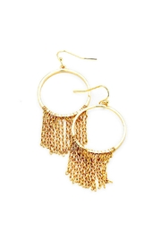 Wild Lilies Jewelry  Gold Fringe Hoops - Product Mini Image
