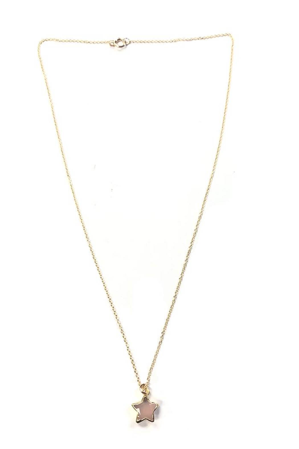 Bara Boheme  Gold Gemstone-Star Necklace - Main Image