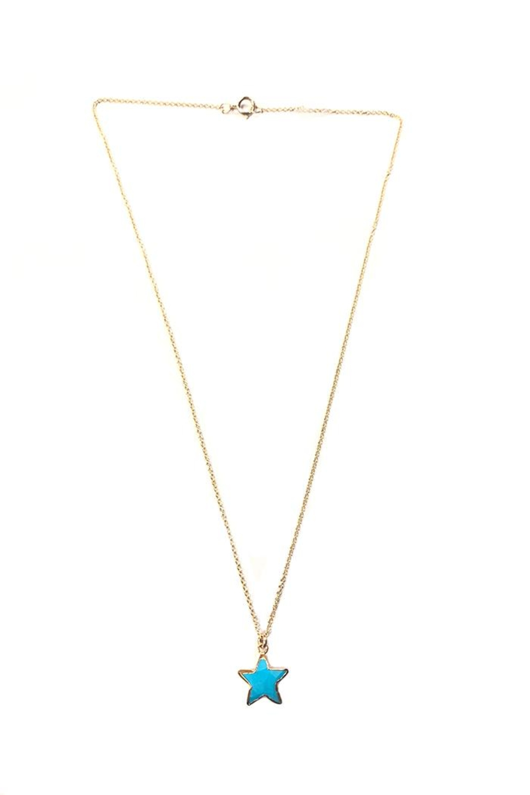 Bara Boheme  Gold Gemstone-Star Necklace - Front Cropped Image