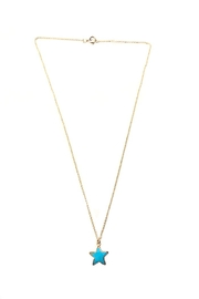 Bara Boheme  Gold Gemstone-Star Necklace - Front cropped