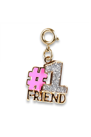 Charm It Gold Glitter #1 Friend Charm - Product Mini Image