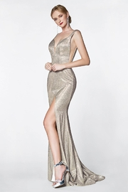 Cinderella Divine Gold Glitter Fit & Flare Long Formal Dress - Product Mini Image