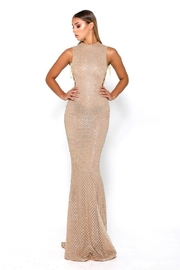 PORTIA AND SCARLETT Gold Glitter Fit & Flare Long Formal Dress - Product Mini Image