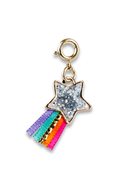 Charm It Gold Glitter Shooting Star Charm - Front cropped