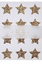 Meri Meri Gold Glitter Star Stickers - Product Mini Image