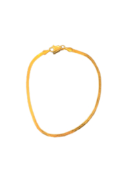 SA Jewelry Gold Herringbone Anklet - Front cropped