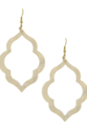 Bluebell Gold Hoop Earrings - Front cropped