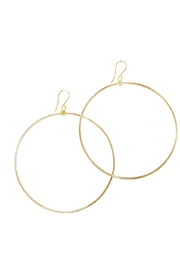 Fabulina Designs Gold Hoop Earrings - Front cropped