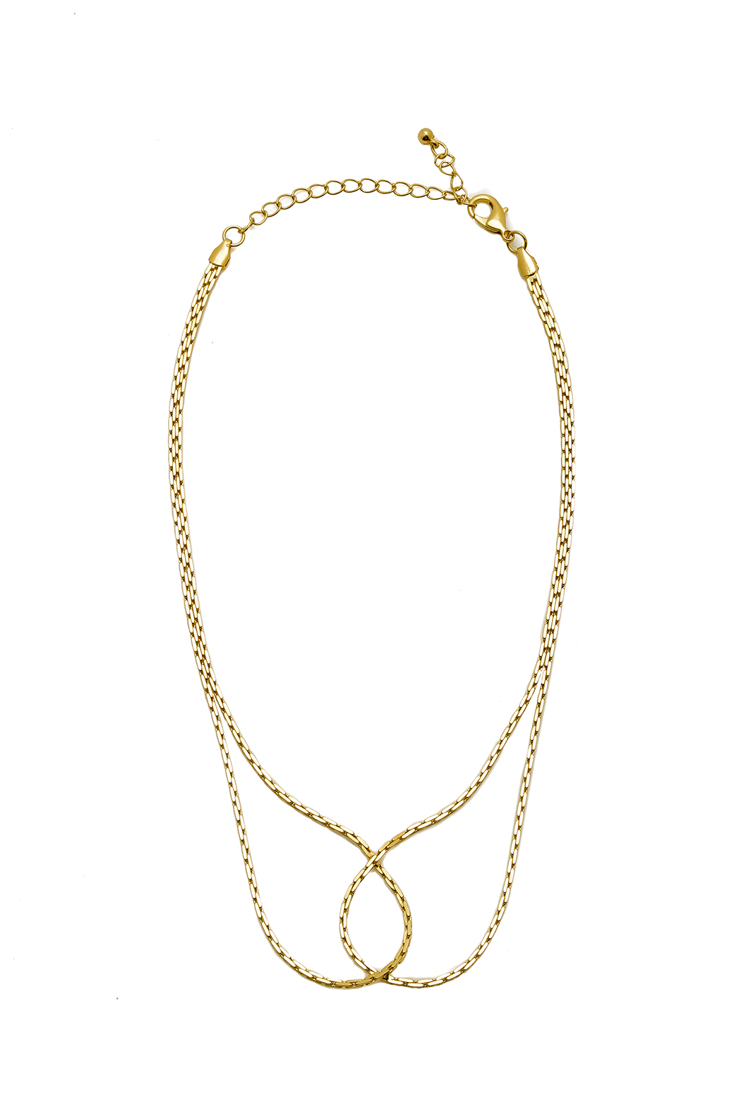 Gold Infinity Chain Necklace Shoptiques