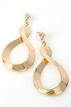 Natasha Couture Fashion Gold Infinity Earrings - Product List Image