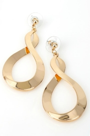 Natasha Couture Fashion Gold Infinity Earrings - Product Mini Image
