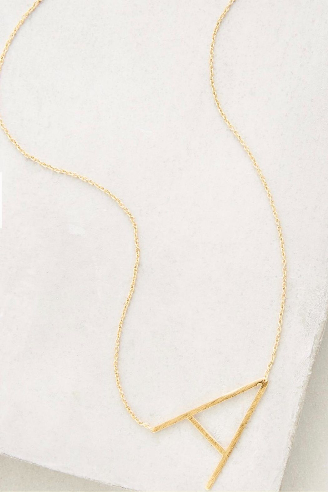 Cool and Interesting Gold Initial Necklace - Main Image