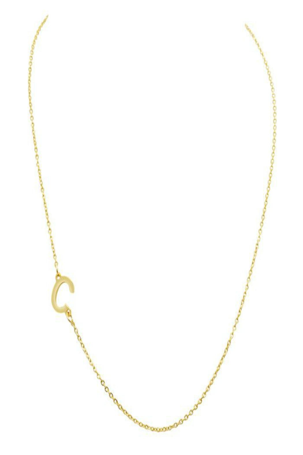 6th Borough Boutique Gold Initial Necklace - Side Cropped Image